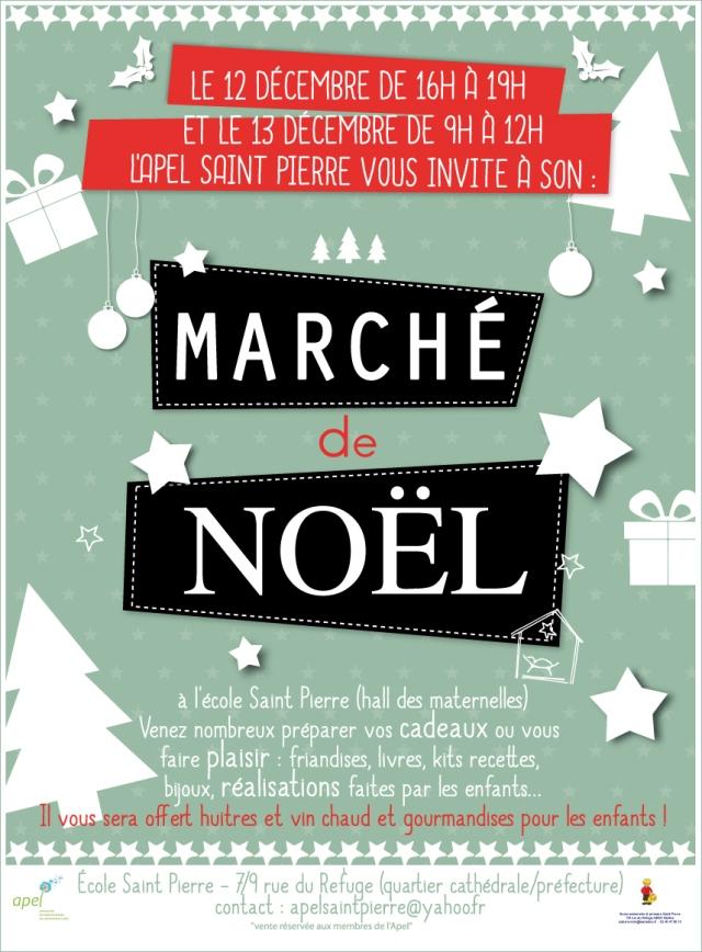 Affiche du Marché de Noêl de l'école Saint Pierre