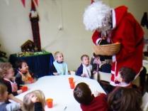 Visite du Père Noël à la cantine